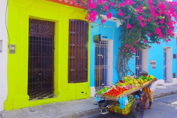 Fruit vendor in Cartagena, Colombia