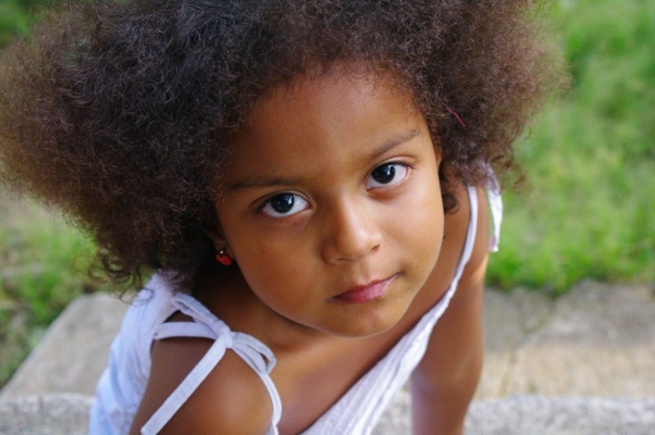 Halle, a child of Colombia